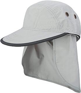 AINIYF Outdoor Sun Protection Visor UV Protection Hat, Men's Sports Cloak Mountaineering Sun Hat (Color : White)