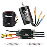 Crazepony-UK 3660 4300KV Motore Brushless Motor with 36-S Water Cooling Jacket And 90A Brushless ESC Combo for 800-1000mm RC Boat