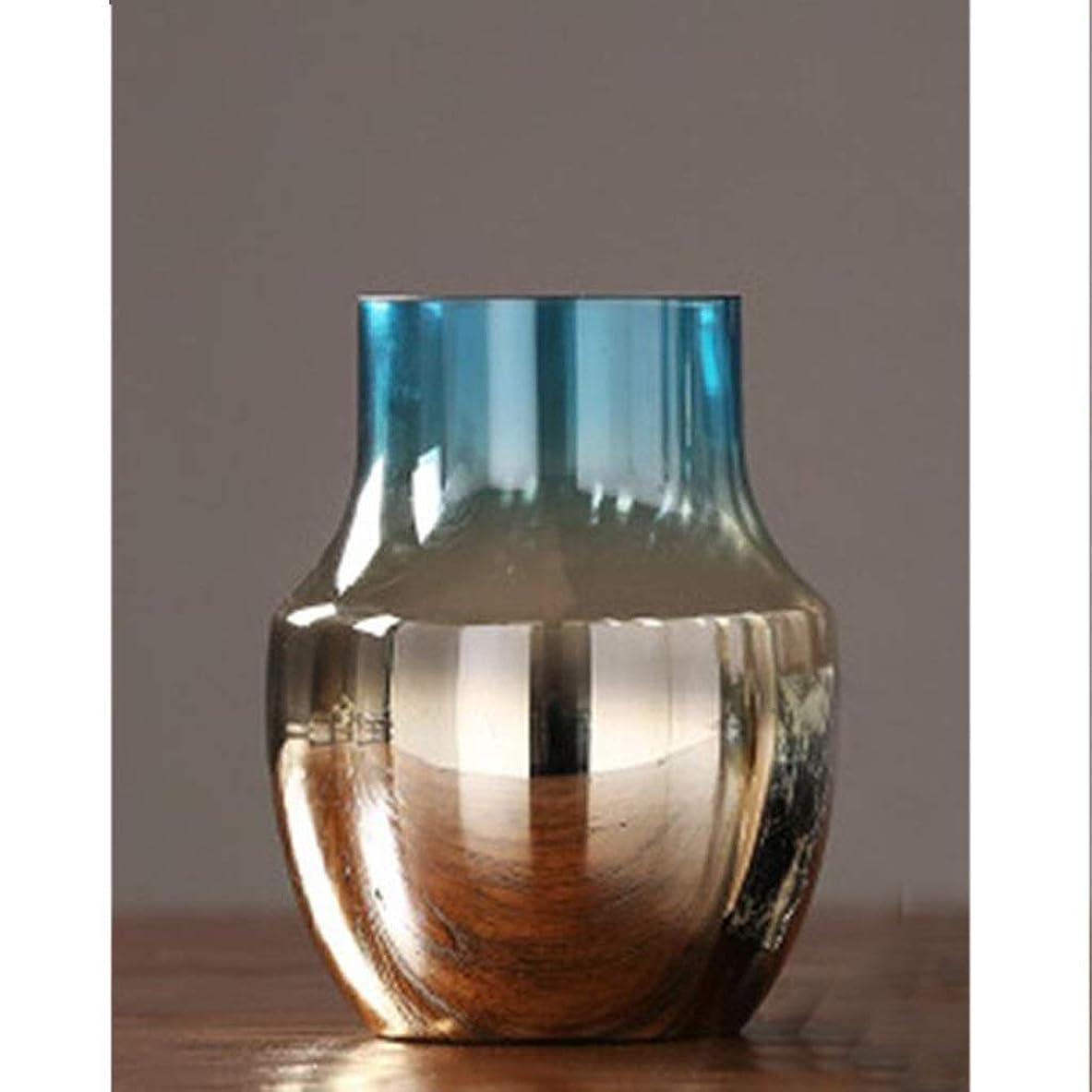 ポテトメロドラマ王室花器 高品質な素材美しいクラフトガラスがなめらかボトルエレガントな花瓶ボディ一般的なガラスを明らかに (Size : 21cm×15.5cm)