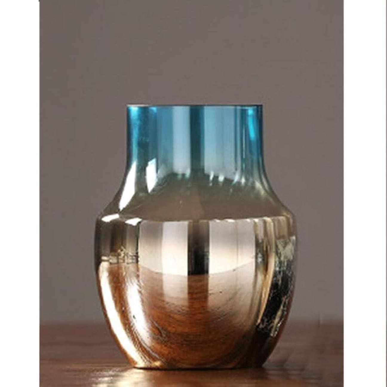 狐肌揺れる花器 高品質な素材美しいクラフトガラスがなめらかボトルエレガントな花瓶ボディ一般的なガラスを明らかに (Size : 21cm×15.5cm)