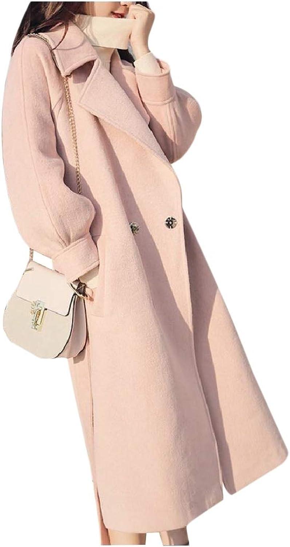 TaoNice Womens Outwear Autumn Winter Wool Blend Lantern Sleeve Classic Wrap