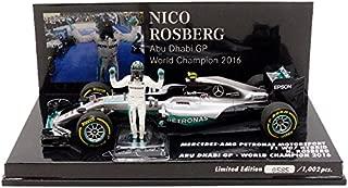 Minichamps Mercedes GP W07Hybrid–World Champion 410160806, 2016–Echelle 1: 43Silver