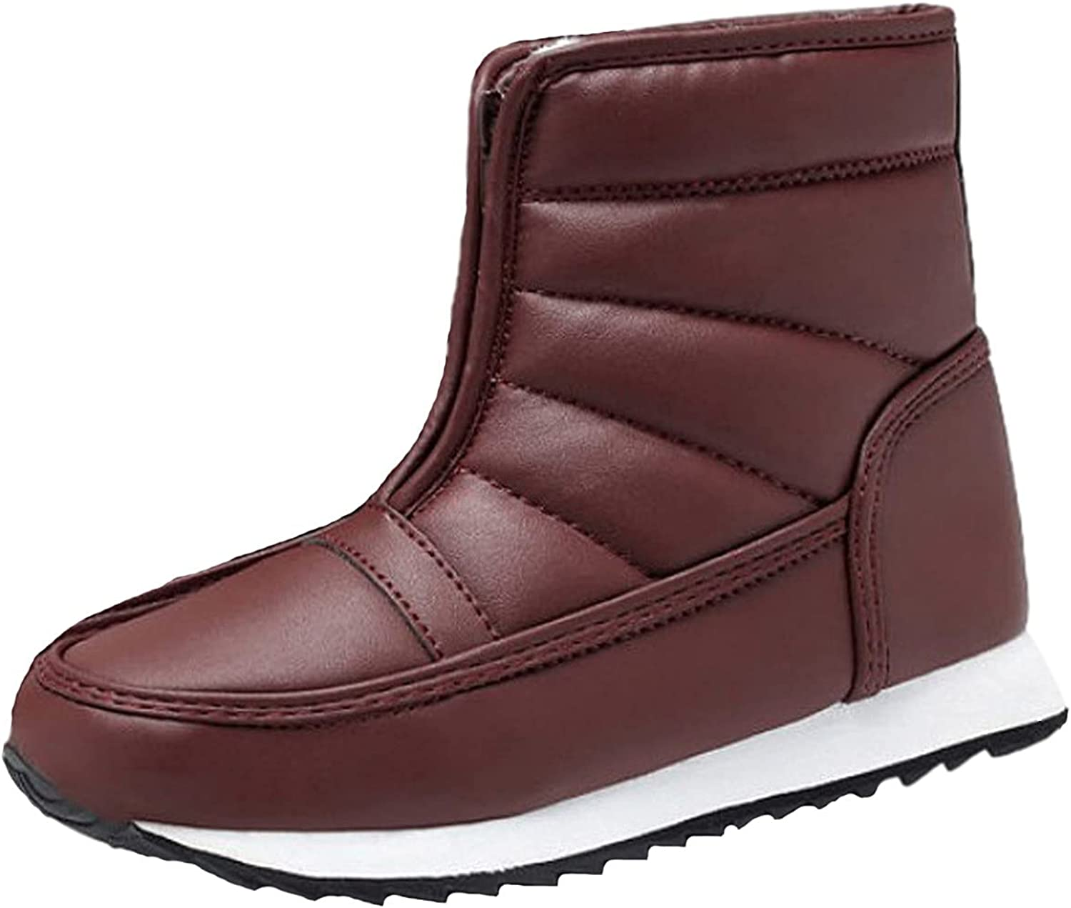 BLVB Booties for Women Winter Zipper Solid Color Large Size Boot