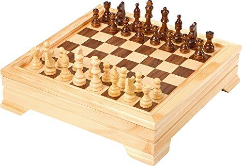 Bavaria-Home-Style-Collection- Holz-Spielesammlung Reise - Gesellschaftsspiele für die ganze Familie - Spiele Kassette aus Holz - Dame Schach Backgammon Karten Spiele UVM. Geschenk Ideen