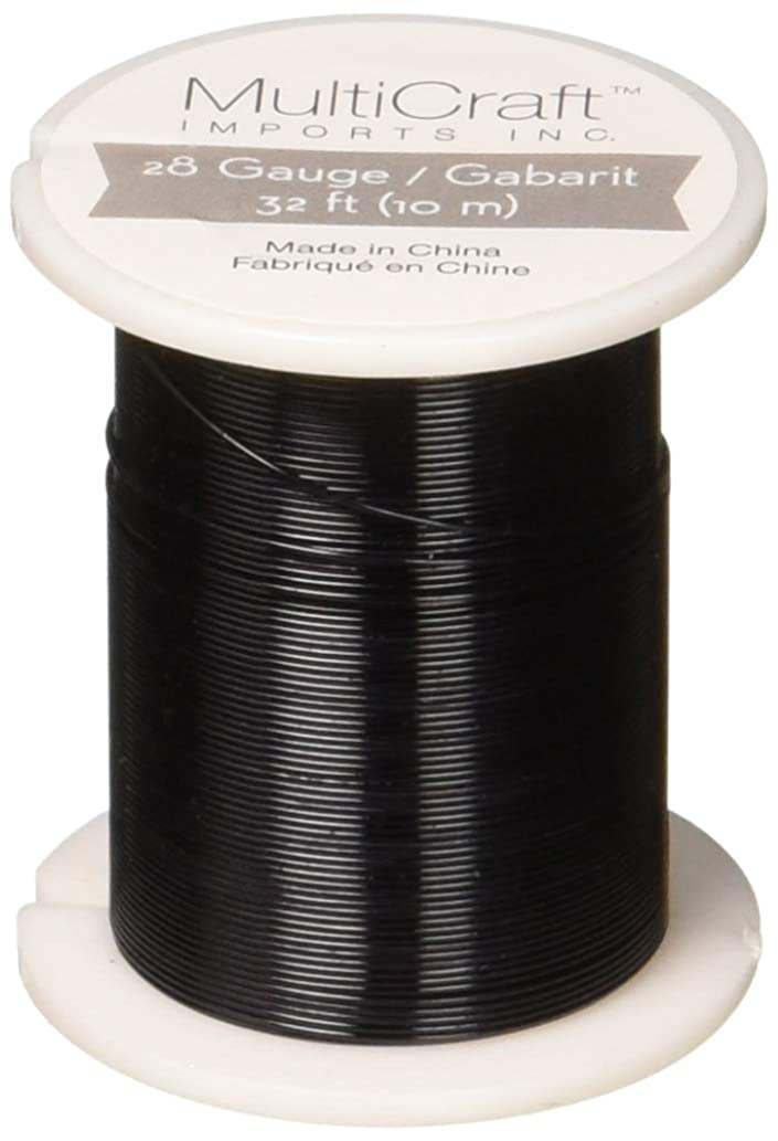 Metallic Beading & Jewelry Wire 28 Gauge 32', Black