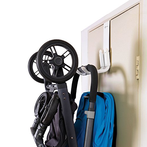 Dreambaby StrollAway Over The Door Baby Stroller Hanger – Heavy Duty Metal Hook Organizer with 50lbs Load Capacity – Model L256
