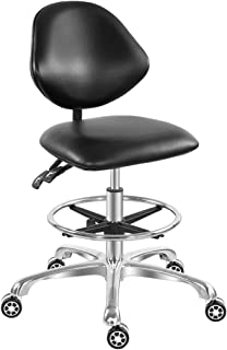 Adjustable Rolling Drafting Stool Chair for Tattoo Studio...