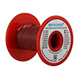 BNTECHGO 30 Gauge Silicone wire spool red and black each 25ft Flexible 30 AWG Stranded Copper Wire