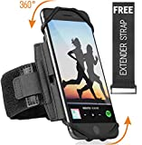 360° Rotatable Premium Sports Running Armband for All Phones: iPhone X XR XS Max 8 Plus 7 Plus 6, Samsung...