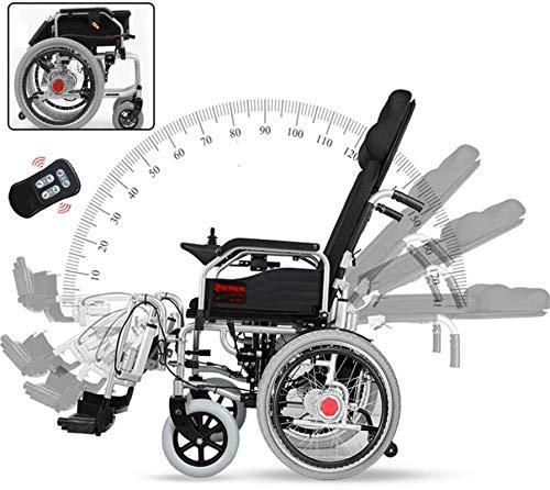 Silla de Ruedas eléctrica Plegable, Silla de ruedas eléctrica plegable de peso ligero, cómodo herramienta de movilidad automática mayor con la batería de litio manual de la potencia de cuatro ruedas S