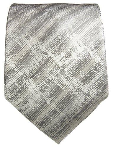 Cravate homme argent gris ensemble de cravate 3 Pièces (longueur 165cm)