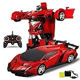 Sensor de control remoto inalámbrico Transformers Robot 1:18 coche teledirigido de carga móvil Buggy Boy Toy 3-6 Años de Edad Cambio del robot a distancia de doble modo de control del coche 360 ° de