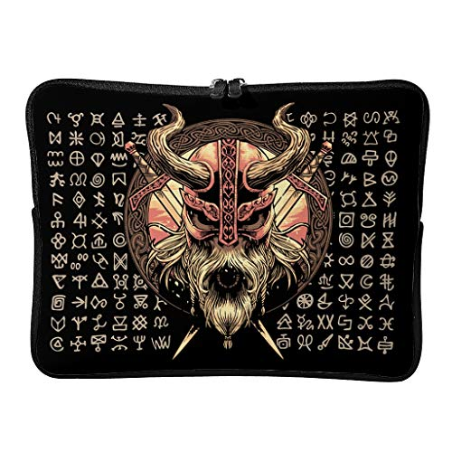 Viking - Funda para portátil (reutilizable), color negro