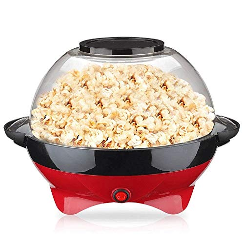 Best Bargain Hot Oil Popcorn Popper,Electric Hot Oil Stirring Popcorn Maker with Measuring Cups an...