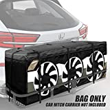 """Versilia Heavy Duty Hitch Cargo Carrier Bag 60"""" x 24"""" x 24"""", 20 Cu Ft Waterproof/Rainproof/Weatherproof Hitch Bag for Expand Vehicle Space (Without Steel Cargo Basket)"""
