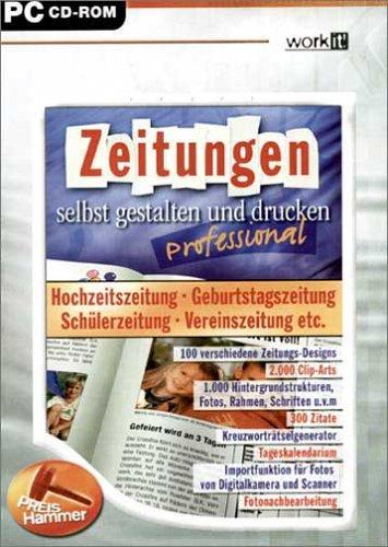 Zeitungen selbst gestalten und drucken - Professional / CD-ROM für Windows 98/Me/XP
