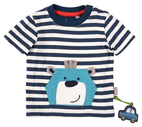 Sigikid Baby-Jungen T-Shirt, Blau (Bär/Gestreift/279), 62