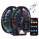 KIODS LED Tira Led Light Belt Set 5M Dc12V 5050 RGB Led Light Belt Music Controller Ip65