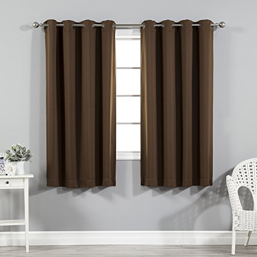 Best Home Fashion Basic Thermal Insulated Blackout Curtains - Antique...