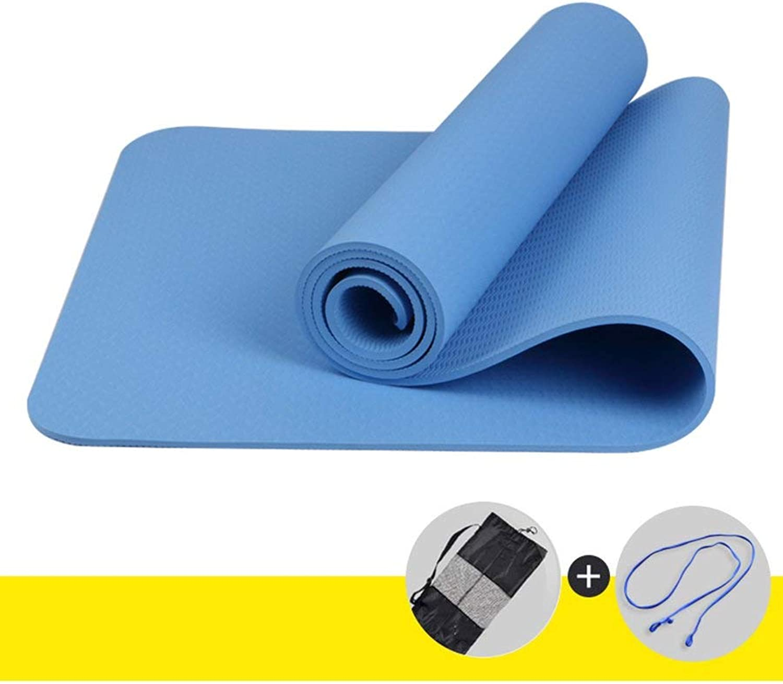 Rutschfeste Yogamatte - Geschmacksneutrales TPE-Anti-Rutsch-Yoga-Matte, Erweiterung und Verdickung, Fitnessmatte, Farbe optional - Yoga-Matte aus Naturkautschuk, für übungen (Gre  60 c