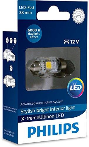 Philips 12859I60X1 X-tremeUltinon LED éclairage intérieur voiture C5W 38mm Festoon 6000K 12V, 1 pièce