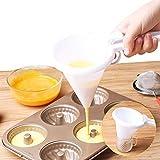 Handheld Pancake Batter Dispenser, Food-grade Plastic Component Funnel, Chocolate Candy Cream Takoyaki Portion Cup Cake Desserts Maker, Easter Baking Supplies for Kitchen & Home