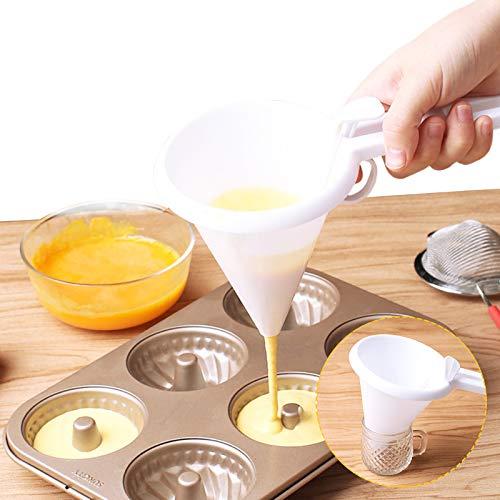 Embudo de Crema Dispensador de Glaseado de Mantequilla de Mano Herramienta para Hornear Pasteles