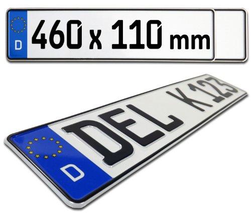 Kfz Kennzeichen / Euro Nummernschild Deutschland - 460mm x 110mm