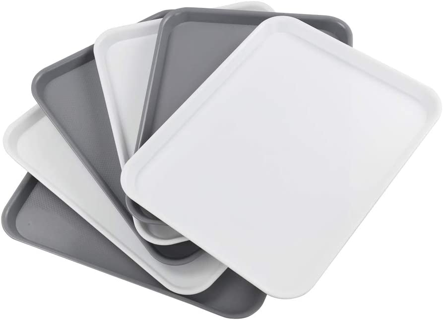 Uumitty Set of 6 Plastic Large Topics on TV Trays Rectangle Serving New product