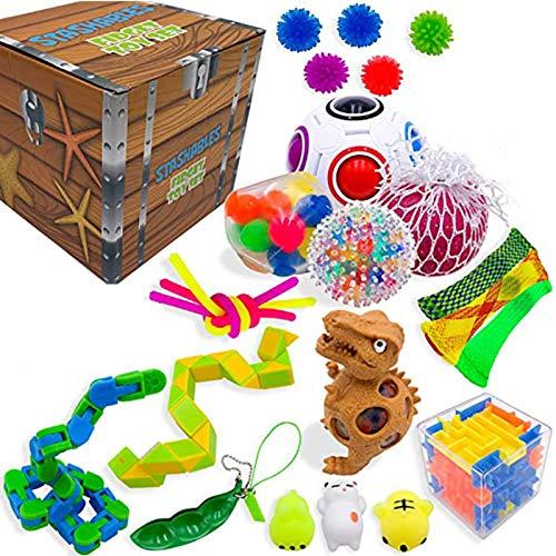 Anti Stress Spielzeug Set,Sensory Fidget Toy Set Stressabbau Squeeze Toys Für Kinder Erwachsene,Sensory Toys Für Stressabbau Und Anti-Angst Für Kinder Und Erwachsene ADD ADHS(Blind Box Überraschung)