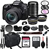 Canon EOS 90D DSLR Camera with 18-135mm USM Lens+ 128GB Card, Tripod, Case, and More (22pc Bundle)
