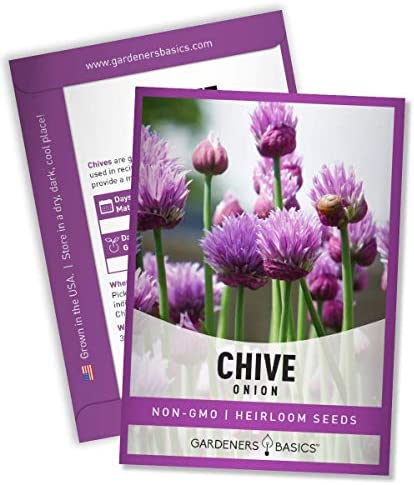 Chive Seeds for Planting is A Heirloom Non GMO Herb Variety Chive Common Onion Herb Seeds Great product image