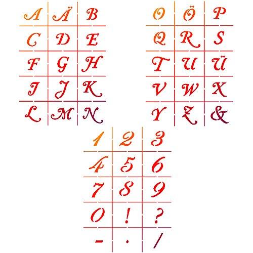 Viva Decor achtergrond sjabloon alfabet groot met grote cijfers