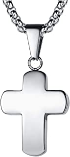 FaithHeart Cruz Collar Acero Inoxidable Plateado/Dorado/Negro para Hombres y Mujeres Cadena Ajustable Joyería Religiosa de...
