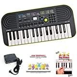 Casio SA46 Keyboard bundle with Casio Power Supply, John Thompson's Easiest Piano Course and ABC Keyboard...