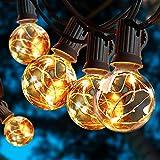 Guirlande lumineuse à ampoules G40 - 30 ampoules avec prise pour arbre de Noël, mariage, jardin, patio, yard fêtes