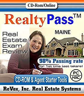 2019 Maine VUE Realty Pass Real Estate Exam Prep Study Guide Questions and Answers Interactive Software