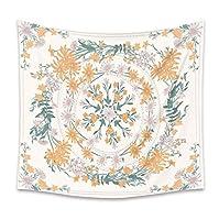 タペストリーマンダラタペストリー壁掛け花ボヘミアン植物プリント、タペストリー壁掛け装飾リビングルーム寝室A