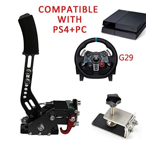 PS4 + PC G29 Freno de mano USB + Abrazadera para juegos de carreras Logitech Sistema de frenos Handbrake Auto Reemplazo Partes Azul Negro rojo Nuevo (Color : G29 Black)