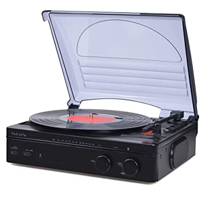 Record Player Vinyl Turntable with Stereo Speak...