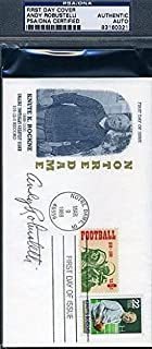 ANDY ROBUSTELLI SIGNED KNUTE ROCKNE FDC PSA/DNA