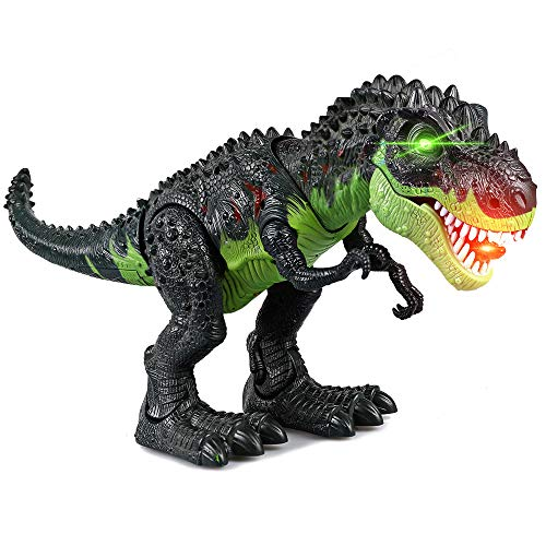 ERollDeep Dinosaur Toys, Electronic Dinosaur Toys Walking Dinosaur with Flashing & Sounds for Boys (Large)