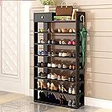 Zapato de Muebles ZXL, 7/8 Filas, apilables, 24-28 Pares, Organizador de Zapatos de pie con Tejidos Impermeables, fácil de Montar (Color : A, Size : 8 Tier)