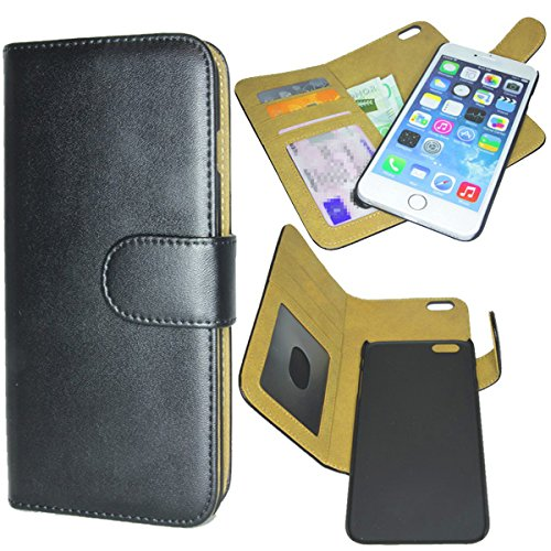 Great Lion iPhone 6S Plus Deluxe Wallet Folio Case with Removable Magnetic Cover