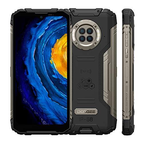 Móvil Libre Resistente, DOOGEE S96 Pro, IP68 Telefono Antigolpes, Helio G90 8GB+128GB, Cámara Cuádruple 48MP, Visión Nocturna Infrarroja 20MP, Pantalla 6.22, 6350mAh Batería, NFC, Negro