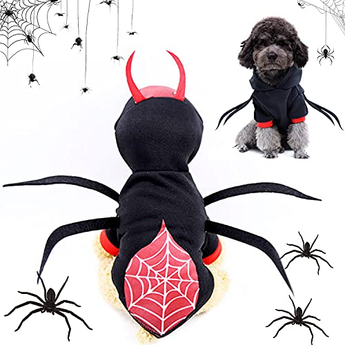 Ropa de Perro Halloween, Disfraz De Mascota, Disfraces para Perro, Disfraz para Perro De Halloween, Araña, Perros Disfraces de Cosplay, Disfraz de Pelota para Fiestas (Disfraz De Araña para Perro, XL)