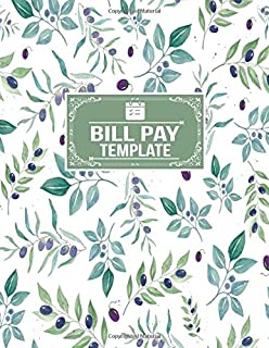 Bill Pay Template: Payment Planner Organizer Record Notebook