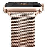 WASPO - Bracelet de montre sport 38/40/42/44 mm - Boucle maille en acier inoxydable - Pour montre série 1/2/3/4/5 - Or rose - Taille S