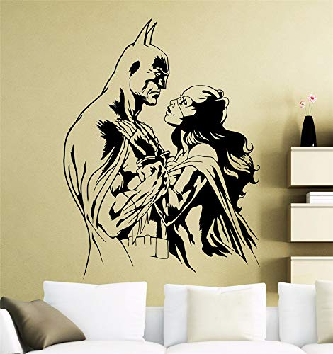 Batman pegatina Batman Batgirl Movie Poster Dark Knight Superhero Dc Marvel Comics Decal Home Interior Decoration