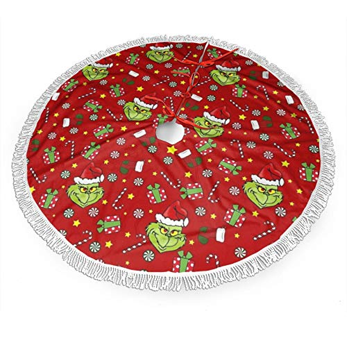 Inflyfure The Grinch Stole Christmas Christmas Tree Skirts Christmas Decorations Xmas Ornaments Gifts48'